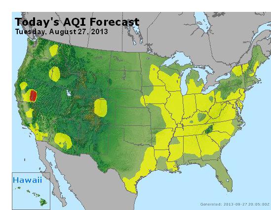 AQI Map 082713