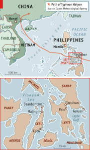 Philippines Map Haiyan