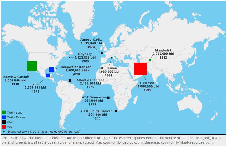 World's Largest Oil Spills