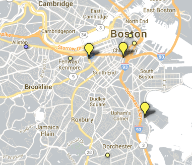 Newspaper Map Boston