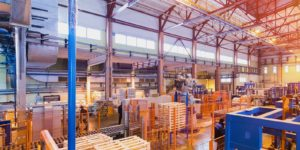 manufacturing plant that is benefitting from sales territory mapping