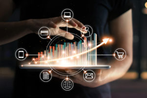 sales territory mapping software shows different types of data a salesperson might want to use