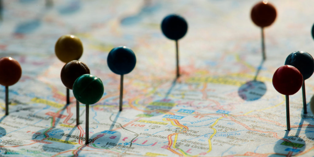 the places a business has a presence in can be considered it sales territories