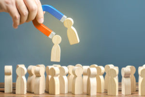 a sales team attract some people in some demographics of their sales territories to be clients