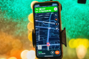 gps shows the route to the location a salesperson wants to close a sale