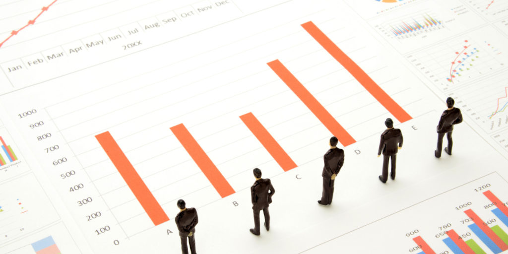 graph shows information that can be used for sales growth