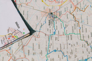map shows all the routes a salesperson can take to go make their sales
