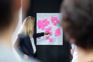 sales manager delegate tasks on a sales zone to her sales team