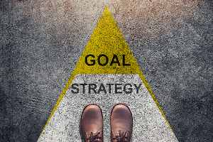 Business strategy and goal concept. Business mapping software helps accelerate reaching their goals faster