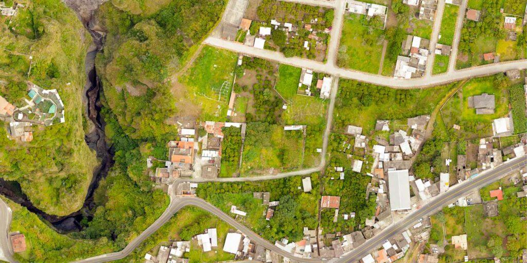 a neighborhood displayed through GIS mapping software