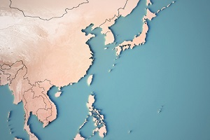 Continental Map of Northeast Asia
