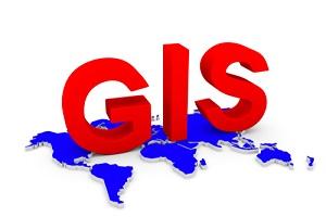 GIS World Map Conceptual White Background